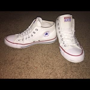 Women's Converse Madison Mid Sneakers Red White